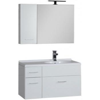 Комплект мебели для ванной Aquanet Данте 85 R белый (камерино 1 навесной шкафчик)