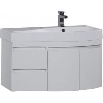 Тумба с раковиной Aquanet Сопрано 95 R белый (2 дверцы 2 ящика)