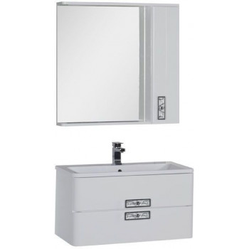 Комплект мебели для ванной Aquanet Паллада 90 белый