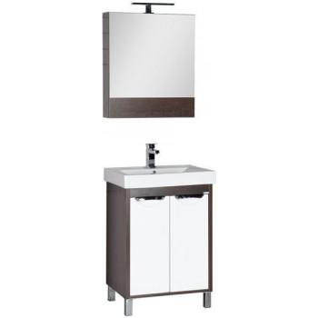 Комплект мебели для ванной Aquanet Гретта 60 венге (камерино 2 дверцы)