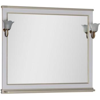 Зеркало Aquanet Валенса 110 белый краколет/золото