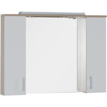 Зеркало-шкаф с подсветкой Aquanet Тиана 100 светлый дуб