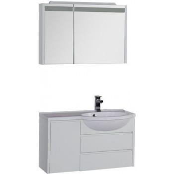 Комплект мебели для ванной Aquanet Лайн 90 R белый