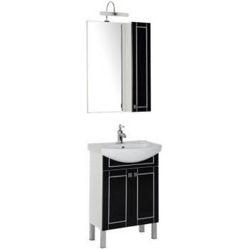 Комплект мебели для ванной Aquanet Честер 60 черный/серебро