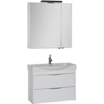 Комплект мебели для ванной Aquanet Франка 85 белый