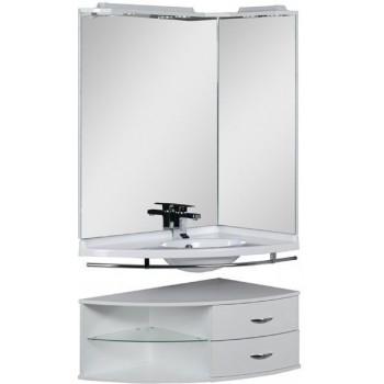 Комплект мебели для ванной Aquanet Корнер 89 R белый (открытый)