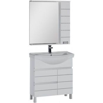 Комплект мебели для ванной Aquanet Доминика 80 белый