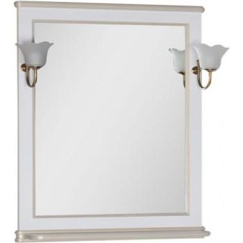 Зеркало Aquanet Валенса 80 белый краколет/золото