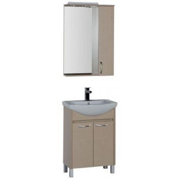 Комплект мебели для ванной Aquanet Донна 60 светлый дуб (2 дверцы)
