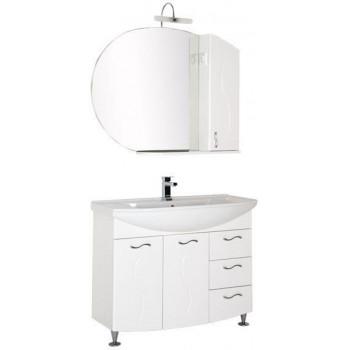 Комплект мебели для ванной Aquanet Моника 105 белый