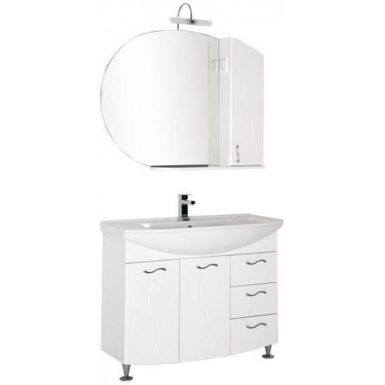 Комплект мебели для ванной Aquanet Моника 105 белый в интернет-магазине ROSESTAR фото