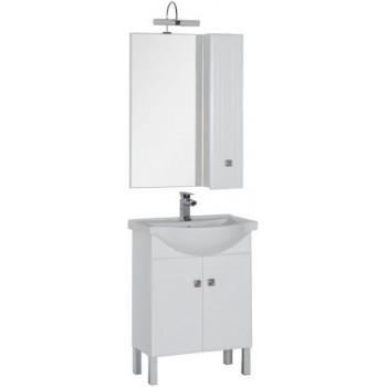 Комплект мебели для ванной Aquanet Стайл 65 белый (2 дверцы)