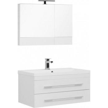 Комплект мебели для ванной Aquanet Нота NEW 90 белый (камерино)