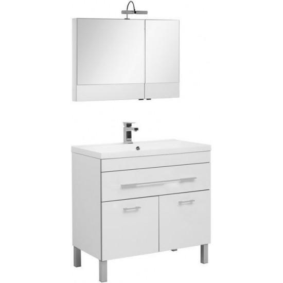 Комплект мебели для ванной Aquanet Верона NEW 90 белый (напольный 1 ящик 2 дверцы) в интернет-магазине ROSESTAR фото