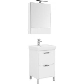 Комплект мебели для ванной Aquanet Гретта 55 New белый (2 ящика)