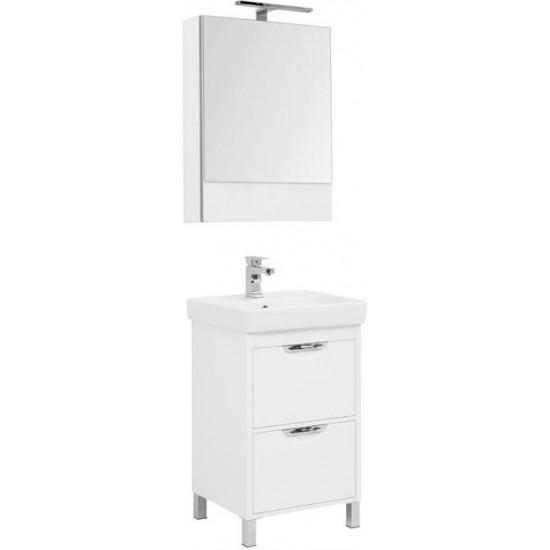 Комплект мебели для ванной Aquanet Гретта 55 New белый (2 ящика) в интернет-магазине ROSESTAR фото