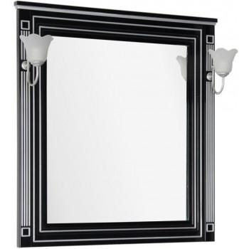 Зеркало Aquanet Паола 90 черный/серебро