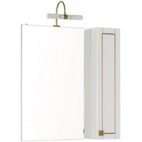 Зеркало-шкаф Aquanet Честер 75 белый/золото