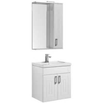 Комплект мебели для ванной Aquanet Рондо 60 белый (2 дверцы)