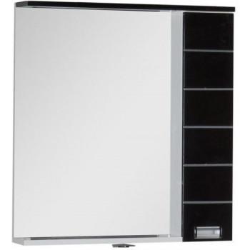 Зеркало-шкаф с подсветкой Aquanet Доминика 80 LED черный