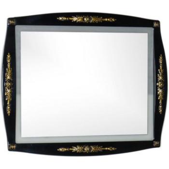 Зеркало Aquanet Виктория 90 черный/золото