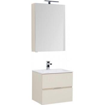 Комплект мебели для ванной Aquanet Алвита 60 бежевый