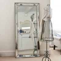 Большое напольное и настенное зеркало в полный рост в зеркальной раме Franco Mid