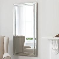 Большое напольное и настенное зеркало в полный рост в зеркальной раме Line (Лайн)