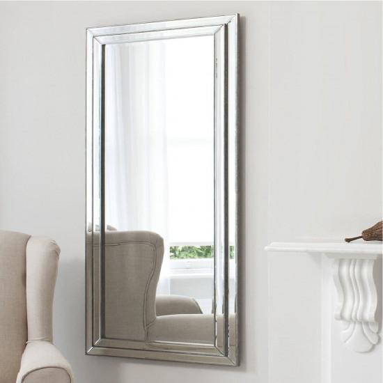 Большое напольное и настенное зеркало в полный рост в зеркальной раме Line (Лайн) в интернет-магазине ROSESTAR фото