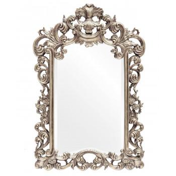 Зеркало настенное в серебряной раме Bogeme Silver