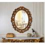 Овальное зеркало в раме Daisy Gold в интерьере в интернет-магазине ROSESTAR фото