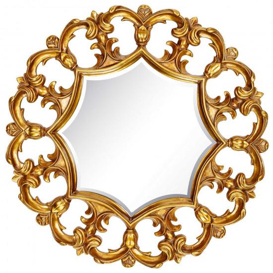 Круглое зеркало в раме Florian Gold в интернет-магазине ROSESTAR фото