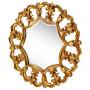Круглое зеркало в раме Florian Gold в интернет-магазине ROSESTAR фото 1