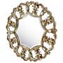 Круглое зеркало в раме Florian Silver  в интернет-магазине ROSESTAR фото 1