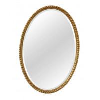 Овальное зеркало в золотой раме Globo Gold
