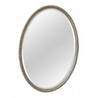 Овальное зеркало в серебряной раме Globo Silver