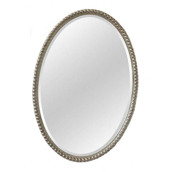 Овальное зеркало в серебряной раме Globo Silver в интернет-магазине ROSESTAR фото