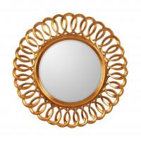 Круглое зеркало в раме Kimberly Gold