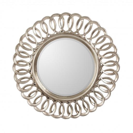 Круглое зеркало в раме Kimberly Silver  в интернет-магазине ROSESTAR фото