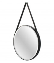 Зеркало на кожаном ремне круглое Loft