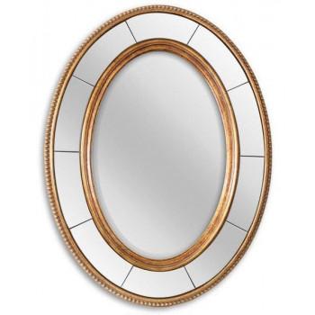 Овальное зеркало в золотой раме Lorena Gold
