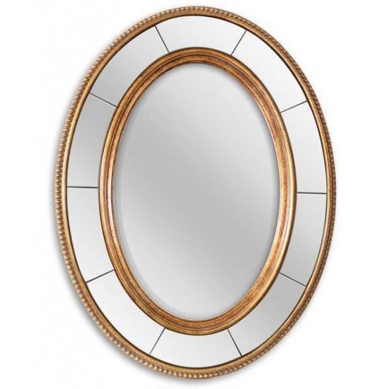 Овальное зеркало в золотой раме Lorena Gold в интернет-магазине ROSESTAR фото