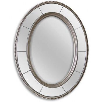 Овальное зеркало в серебряной раме Lord Silver