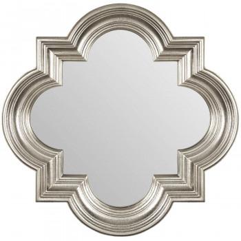 Зеркало в серебряной фигурной раме Morocco Silver