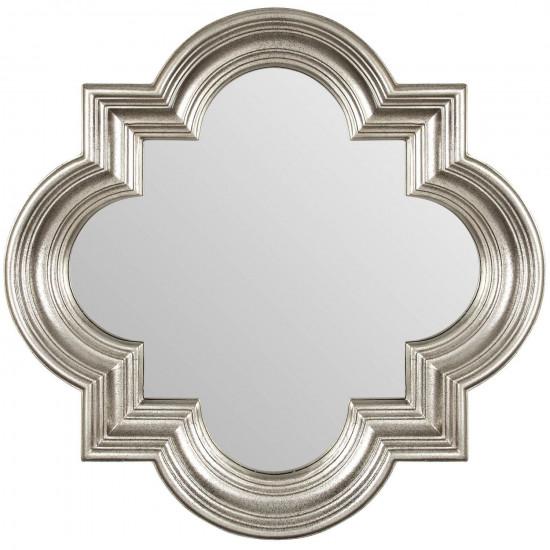 Зеркало в серебряной фигурной раме Morocco Silver  в интернет-магазине ROSESTAR фото