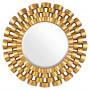 Зеркало солнце в золотой раме Nexus Gold в интернет-магазине ROSESTAR фото