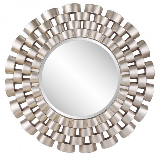 Зеркало солнце в серебряной раме Nexus Silver в интернет-магазине ROSESTAR фото