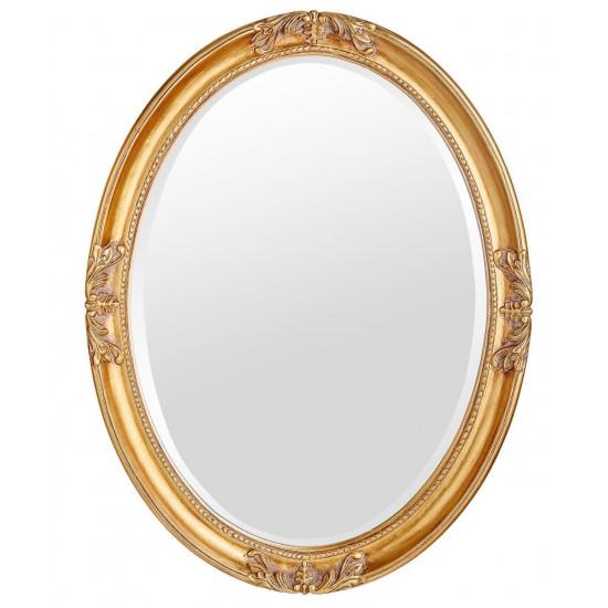 Овальное зеркало в золотой раме Parigi Gold  в интернет-магазине ROSESTAR фото