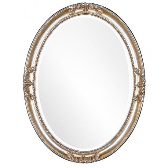 Овальное зеркало в серебряной раме Parigi Silver  в интернет-магазине ROSESTAR фото