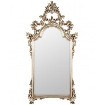 Зеркало в серебряной фигурной раме Pretty Silver